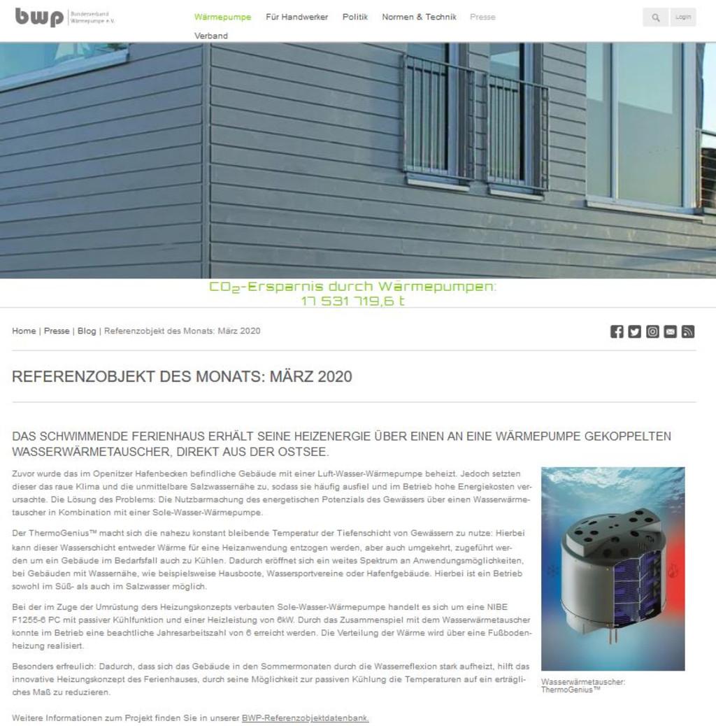 [Translate to Niederländisch:] Pressebericht bwp Referenzprojekt des Monats